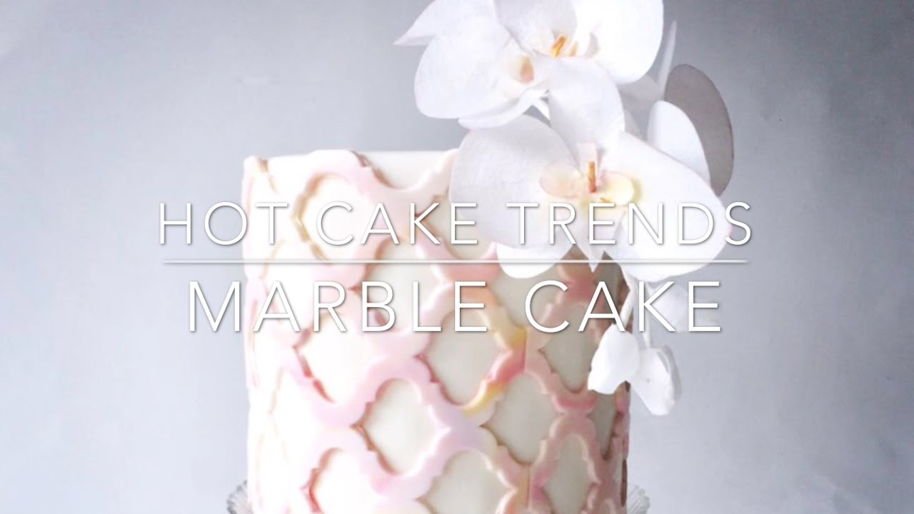 Hot Cake Trends Marble Cake With Wafer Paper Orchids How To Make