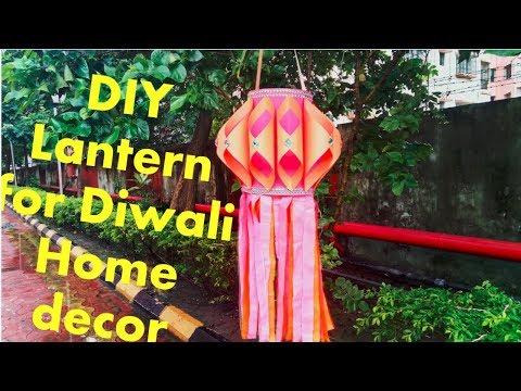 DIY Paper Lantern /Kandil for Diwali Home Decor    Diwali Crafts