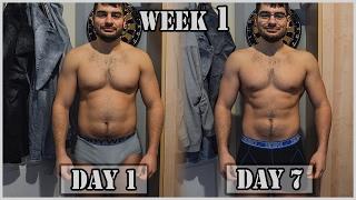 1 WEEK TRANSFORMATION | 4.5kg Weightloss | 1st week of mini cut (KETO)