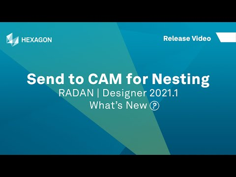 Send To CAM | RADAN Designer 2021.1