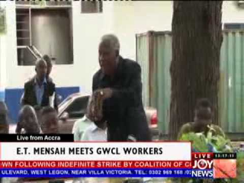 E.T. Mensah meets GWCL Workers (13-11-12)