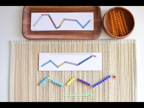 Counting To Ten For Preschoolers Using Montessori Snake Game
