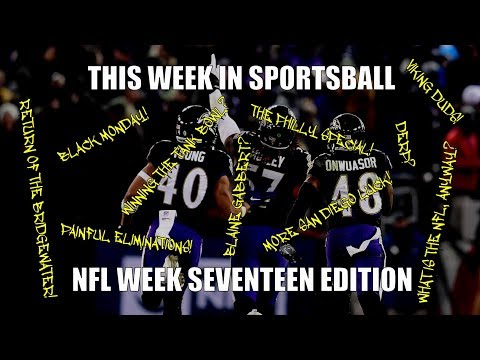 This Week in Sportsball: NFL Week Seventeen Edition (2018)