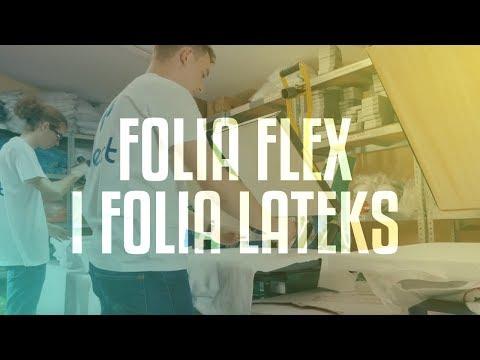 Techniki druku folia flex oraz folia lateks w firmie Reflect