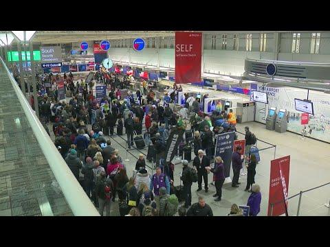 Super Bowl Fans Flood MSP Airport Monday
