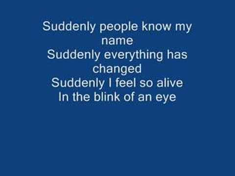 Suddenly-Ashley Tisdale (with lyrics)