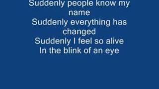 Suddenly-Ashley Tisdale (with lyrics)