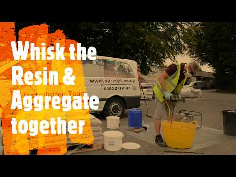How to install resin bound using a TradePack