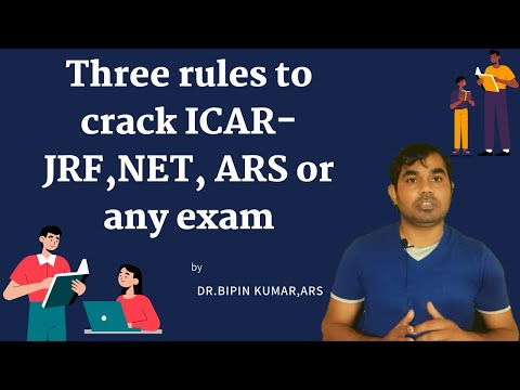 Three rules  to crack  ICAR-JRF,NET, ARS or any exam
