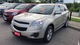 Gold 2015 Chevrolet Equinox LT Review Oshawa ON - Roy Nichols Motors Ltd