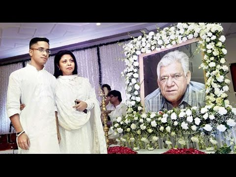 Late Om Puri's Prayer Meet Organised By Second Wife ...