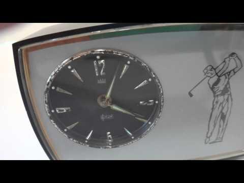 Vintage Reuge musical alarm clock
