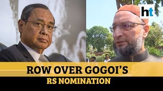 'Quid pro quo': Owaisi slams Ex-CJI Ranjan Gogoi's nomination to Rajya Sabha