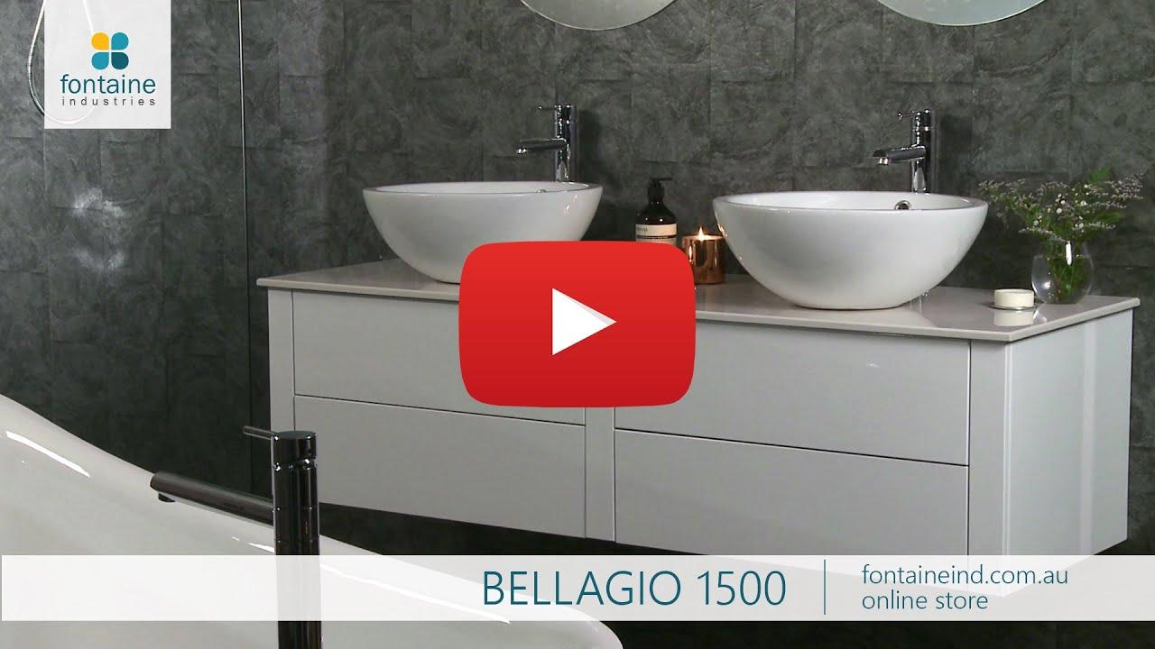 Bellagio Bathroom Vanity Large Twin Bowl Stone Top Floating 1500 Fontaineind Au