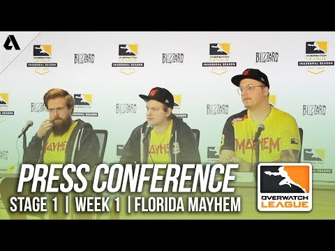 Florida Mayhem Day 2 Press Conference ft TviQ Logix | Overwatch League OWL Stage 1 Week 1