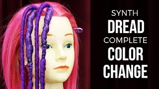 Synth Dread Installation for Complete Color Change - DoctoredLocks.com