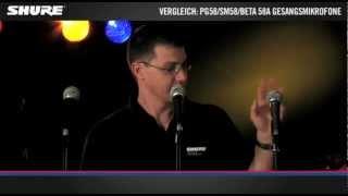Vergleich Gesangsmikrofone: PG58 / SM58 / Beta 58A