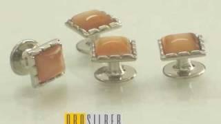 Orosilber Tuxedo studs  Cufflinks Men Fashion Accessories Thumbnail