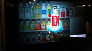 대형 터치스크린 자판기 사용화면
