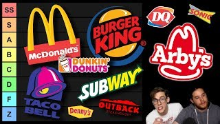 SuperMega's FAST FOOD TIER LIST (VERY EPIC)