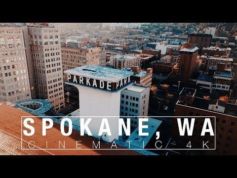 Spokane, Washington  [4K Drone]