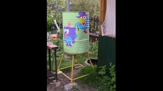 Бочка для полива, изготовление подставки.(, 2016-05-24T04:00:00.000Z)