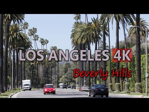Ultra HD 4K Los Angeles Travel USA Tourism Beverly Hills Tourist Attraction UHD Video Stock Footage