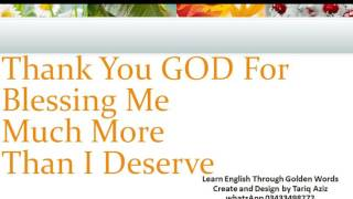 Thank You God Quotes, Prayers And Sayings–thanking the Lord In English With Urdu Translation