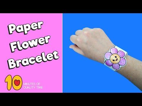 Flower Paper Bracelet - Nature Craft for Kids