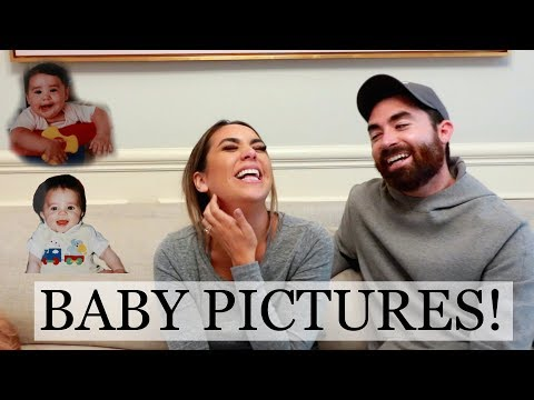 WHAT WILL THE BABY LOOK LIKE?! | LOOKING AT OUR BABY PICTURES | ALEX AND MICHAEL