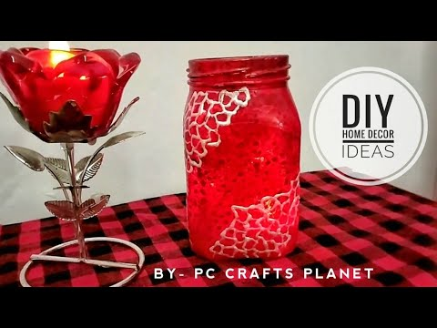DIY home decor ideas| Recycle glass jar| Glass jar decoration ideas