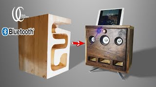 Awesome!$15 PC speaker transformation. How to make a high-end Bluetooth speaker used PC speaker DIY.