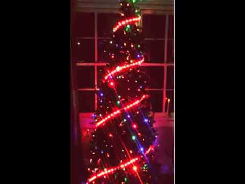 christmas tree decorated with magic led strip super bright led strip youtube
