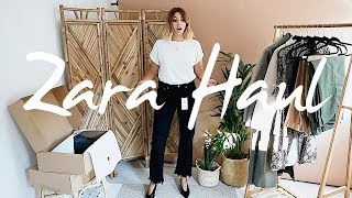 HUGE Transitional Zara Unboxing Try-On Haul | Autumn 2018