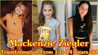 Mackenzie Ziegler transformation from 1 to 14 years old