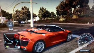 Test Drive Unlimited 2 (PS3): Audi R8 V10 Spyder Cruising [720p]