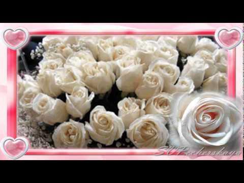 С Днем Рождения! Поздравления с Днем Рождения! В подарок белые розы - Как поздравить с Днем Рождения