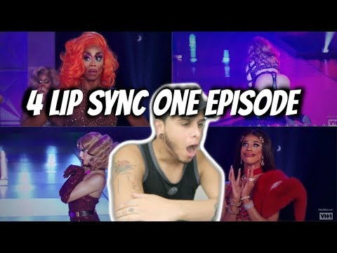 4 LIP SYNC ONE EPISODE ALL STARS 4 REACTION!