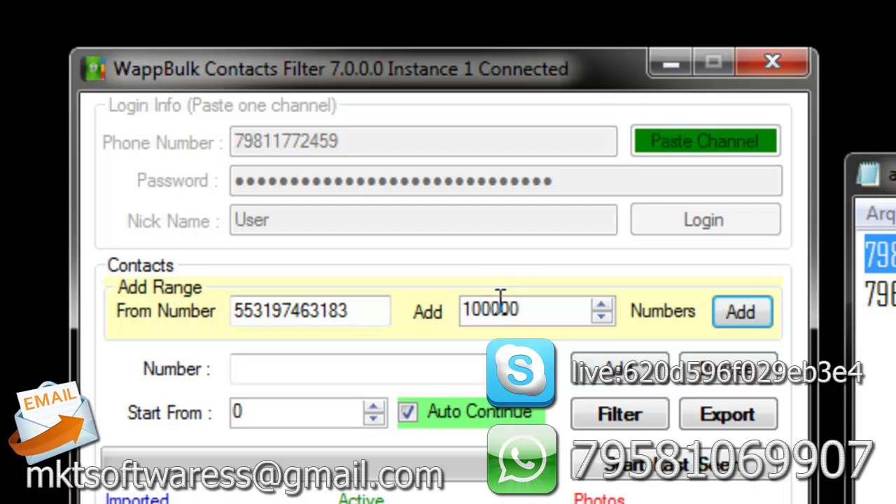 whatsapp filter checker numbers software free download