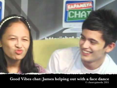 Good Vibes Chat Behind The Scenes: James Helps Out The GV Contest Winner With Her Face Dance