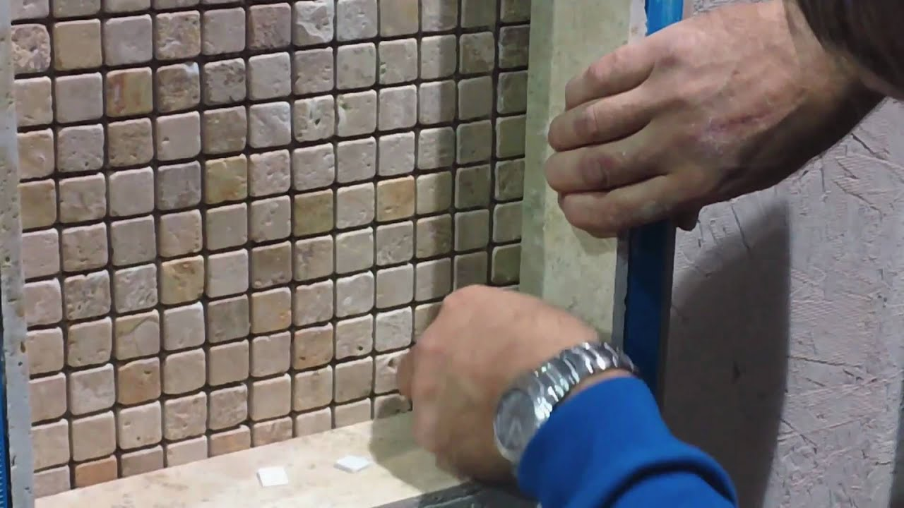 Shower Tile Installation - How To Install Glass Shelving - YouTube