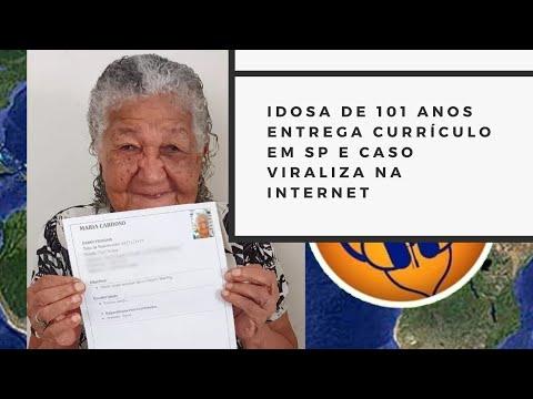 Idosa De 101 Anos Entrega Currículo Em Empresa De SP