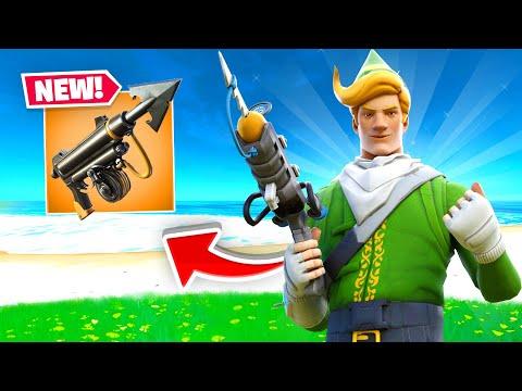 *NEW* HARPOON GUN In Fortnite! (Pretty Epic)