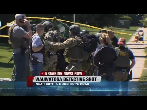 Wauwatosa detective shot near 60th St. and Good Hope Rd., search continues for suspect