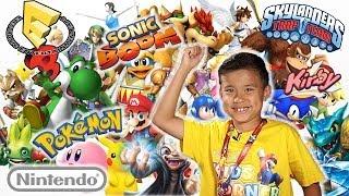 Evantubehd Invades E3 2014! Nintendo Kids Corner & Skylanders Trap Team