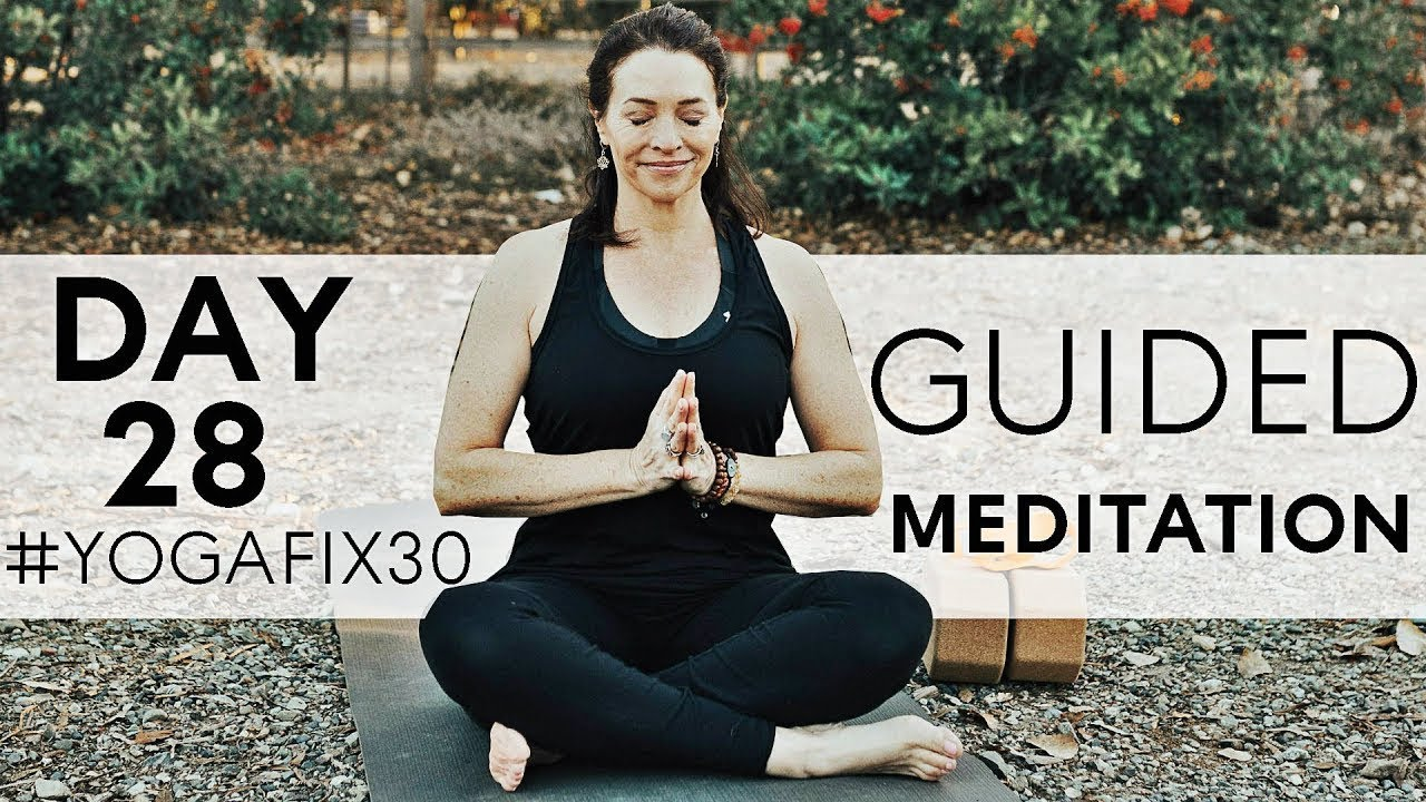 15 Minute Guided Meditation for Anxiety and Over-Thinking Day 28 |  Fightmaster Yoga Videos