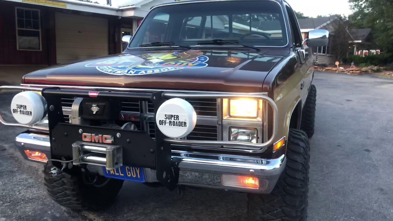 Tvs Fall Guy Show Tribute This 1987 Chevrolet Lwb 4x4 Truck Youtube