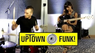 Bruno Mars Uptown Funk Mark Ronson Drum Bass Cover