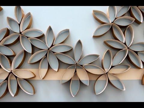 Flores de papel hechas con rollos de papel del bao DIY YouTube
