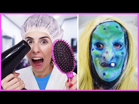 Kuaför Dila Ve Cadı Müşteri Komik Eğlenceli Çocuk Videosu Dila Kent